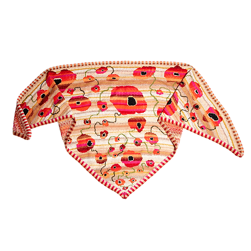 MASAI SHAWL SAND - orange/red/sand