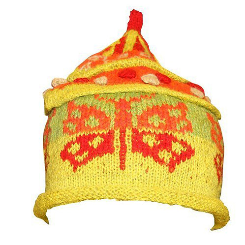 BUTTERFLY HAT - lime