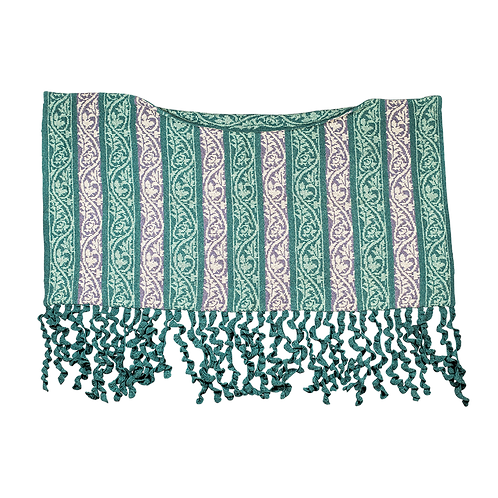 """Gale (from the North West)"" Stole – Light purple/cream/turquoise"