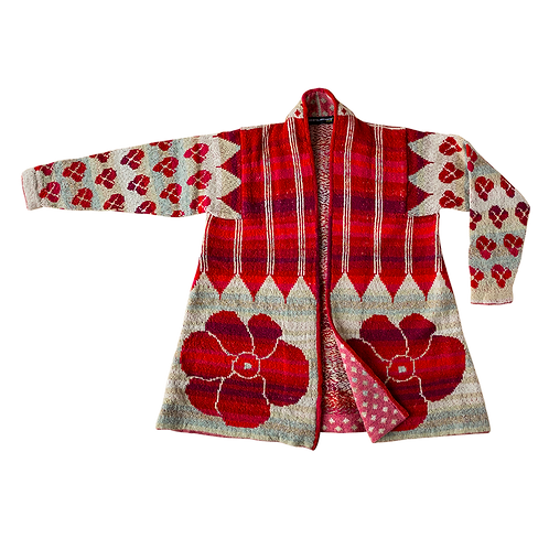 IKAT coat | Red, one size