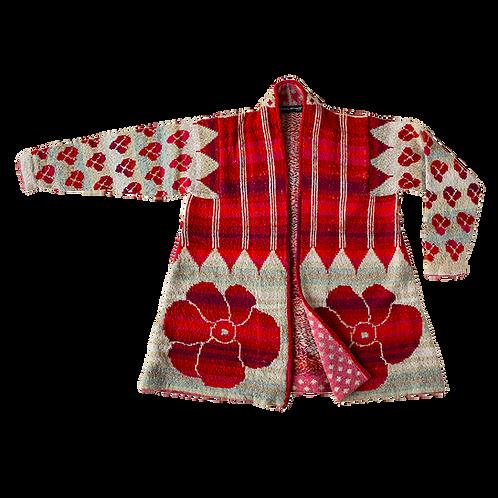 IKAT coat | Red