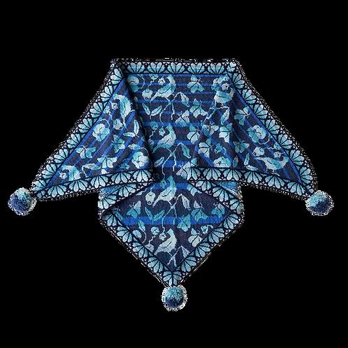 Flora sjal - blå