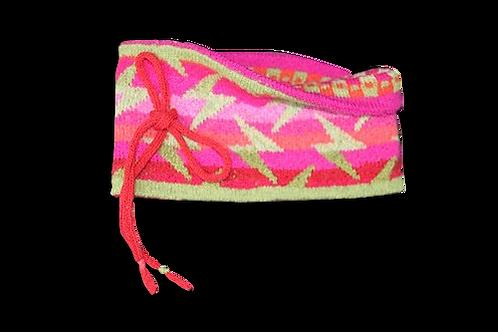 Halsstykke/rør - pink/grøn