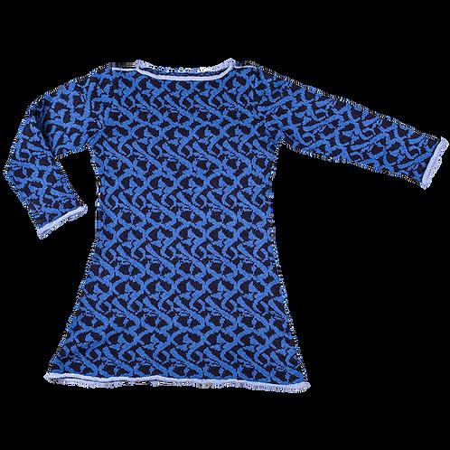 MOSAIK kjole - mørkeblå/koboltblå