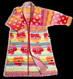Christel Seyfarth flowerpower frakke