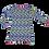 Thumbnail: MOSAIK kjole - lyse pasteller, lilla/grøn/turkis/strågul