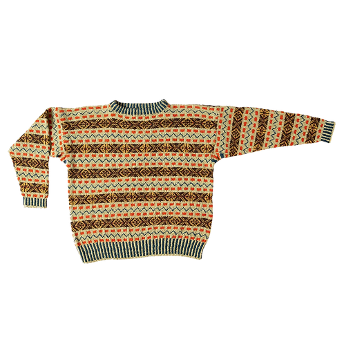 The Prince of Wales - fair isle sweater mustard/brown/orange