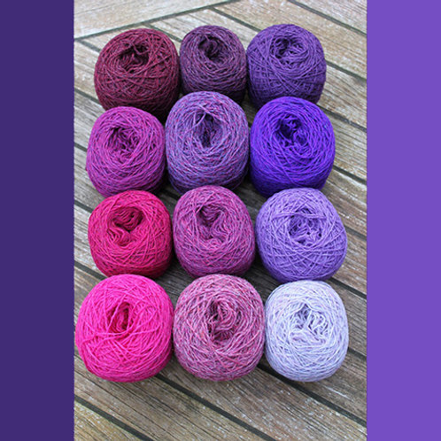 YARN KIT SMALL | PINK/PURPLE SHADES