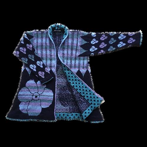 IKAT frakke - blå