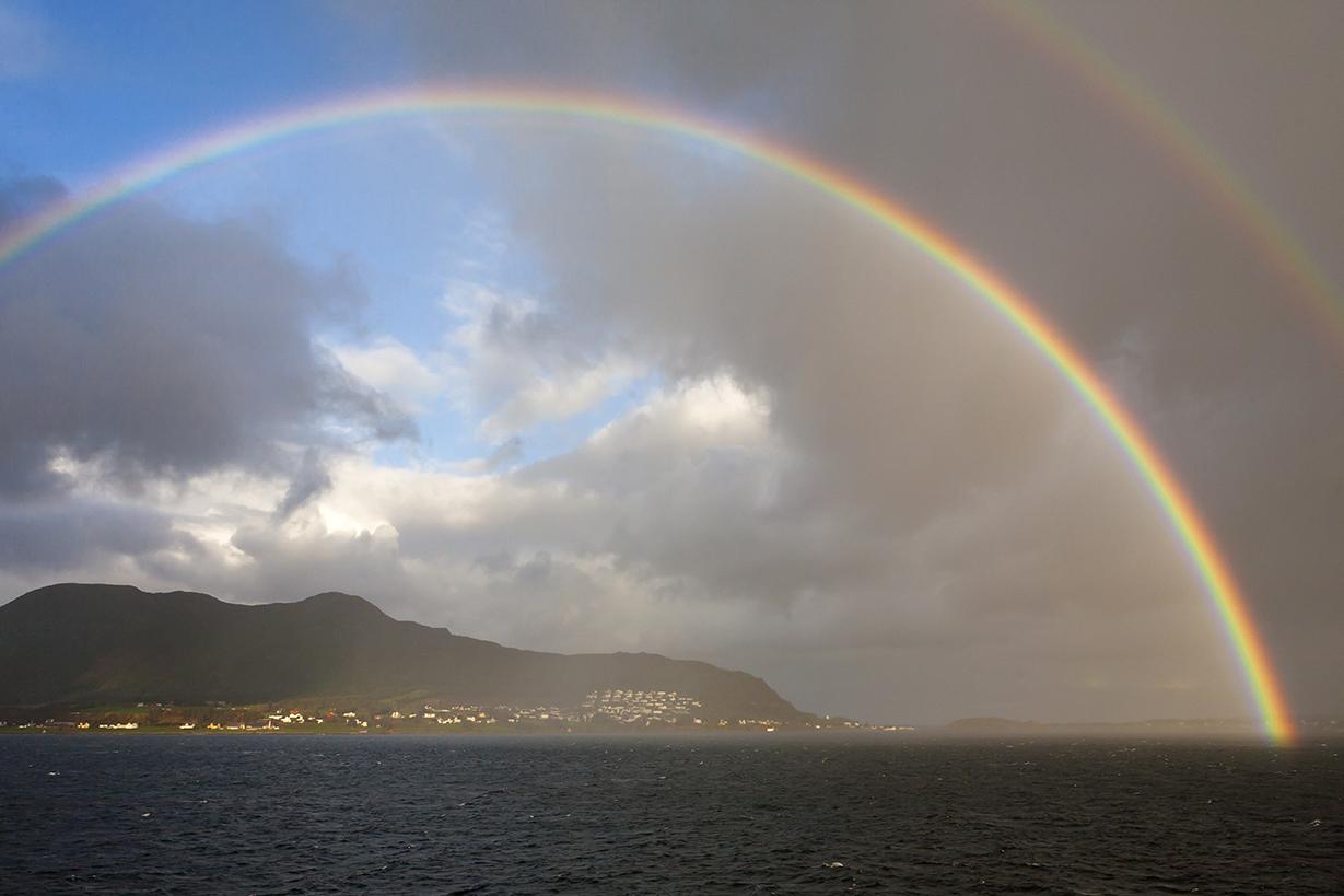 N18 Rainbow over Breidsundet, Møre og Romsdal, Norway