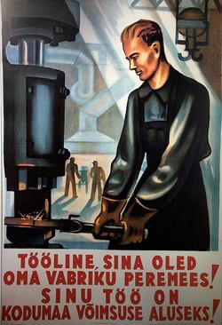 E13 Soviet-era poster, Linnamuuseum, Tallinn