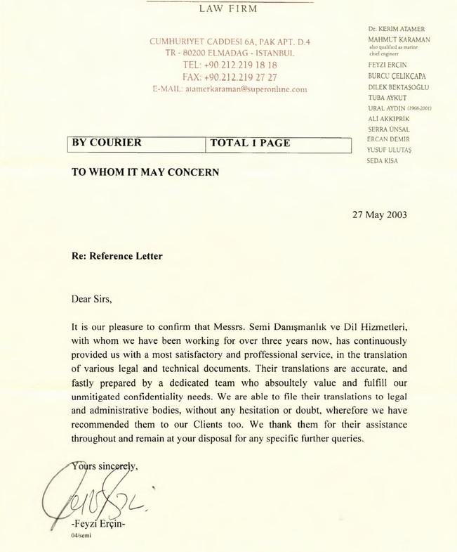 Atamer Karaman Hukuk