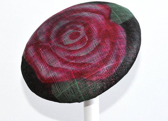 Printed Rose Hat / Fascinator