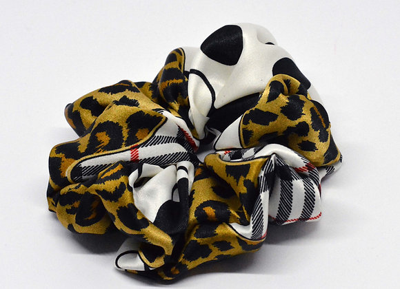 Animal print and Pattern Satin Scrunchie