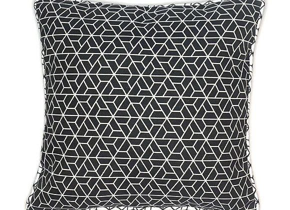 Black and White Patterned Cushion