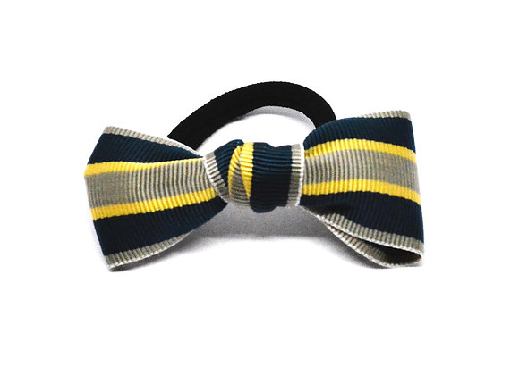Striped Bow Hair Tie