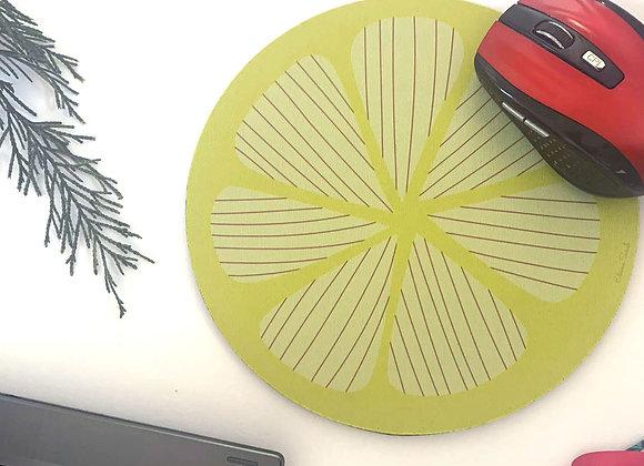 Lemon design round mousemat