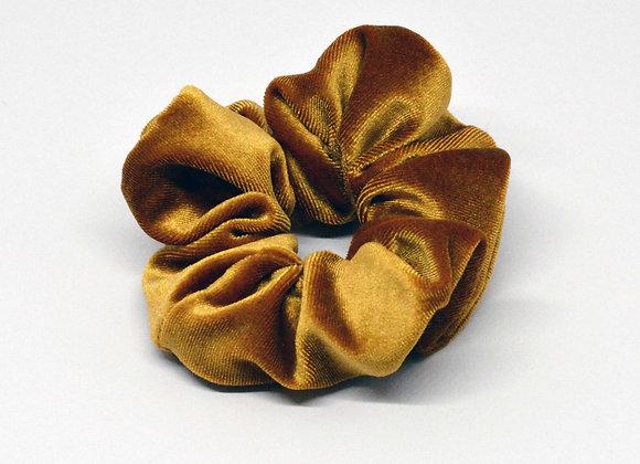 Mustard Yellow Velvet Scrunchie
