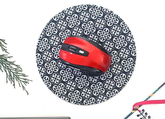 Tile Print Round Mousemat