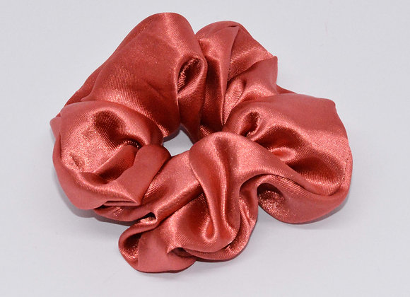 Peach Satin Scrunchie