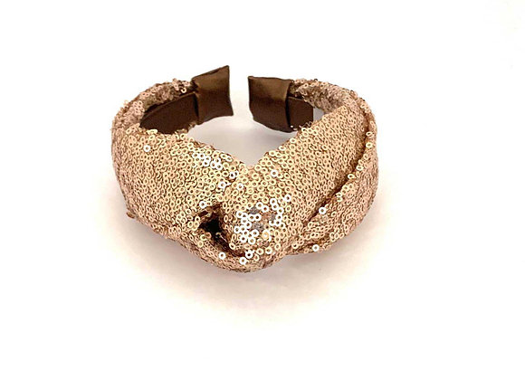 Gold Sequin Fabric Hairband