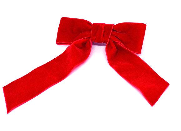 Red Velvet  Bow Barrette