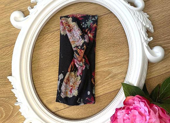 Floral Print Twist Effect Stretch Hairband