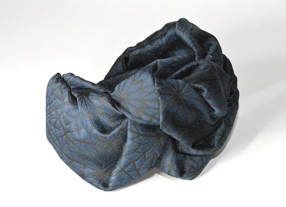 Wide Blue and Black Headband