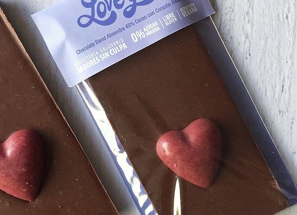 Barra 45% Cacao Blend Almendra con Corazón Relleno