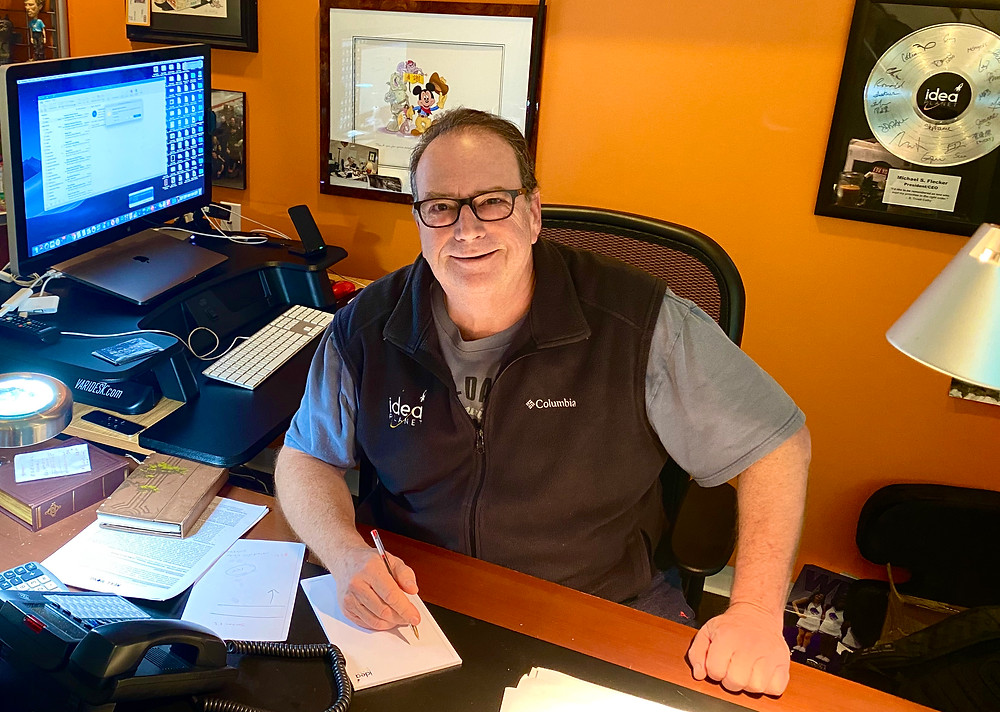 Mike Flecker at his desk