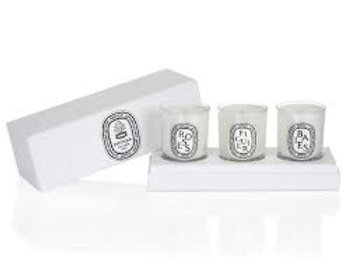 迷你香氛蠟燭套裝(漿果、無花果、玫瑰) Set Of Mini Candles (Baies, Figuier, Roses)