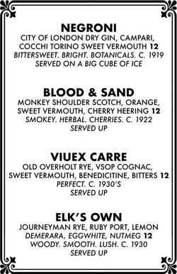 Cocktail menu 4 of 4