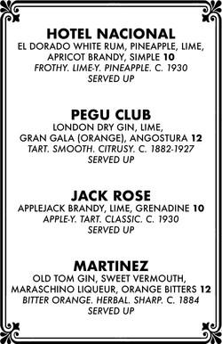 Cocktail menu 2 of 4