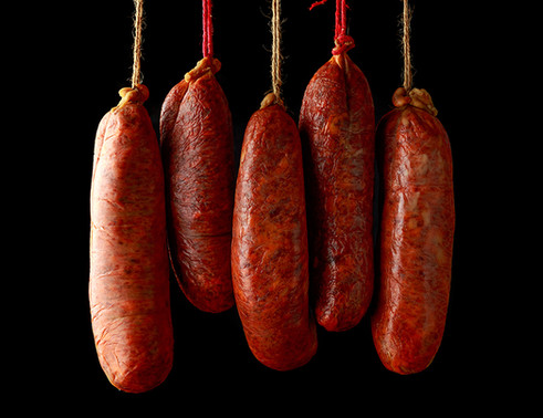 Handmade sausages