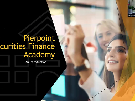 Hi! Get to know me and the Pierpoint Securities Finance Academy