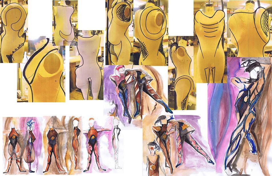 Rough Sketches for Scrap Dance piece