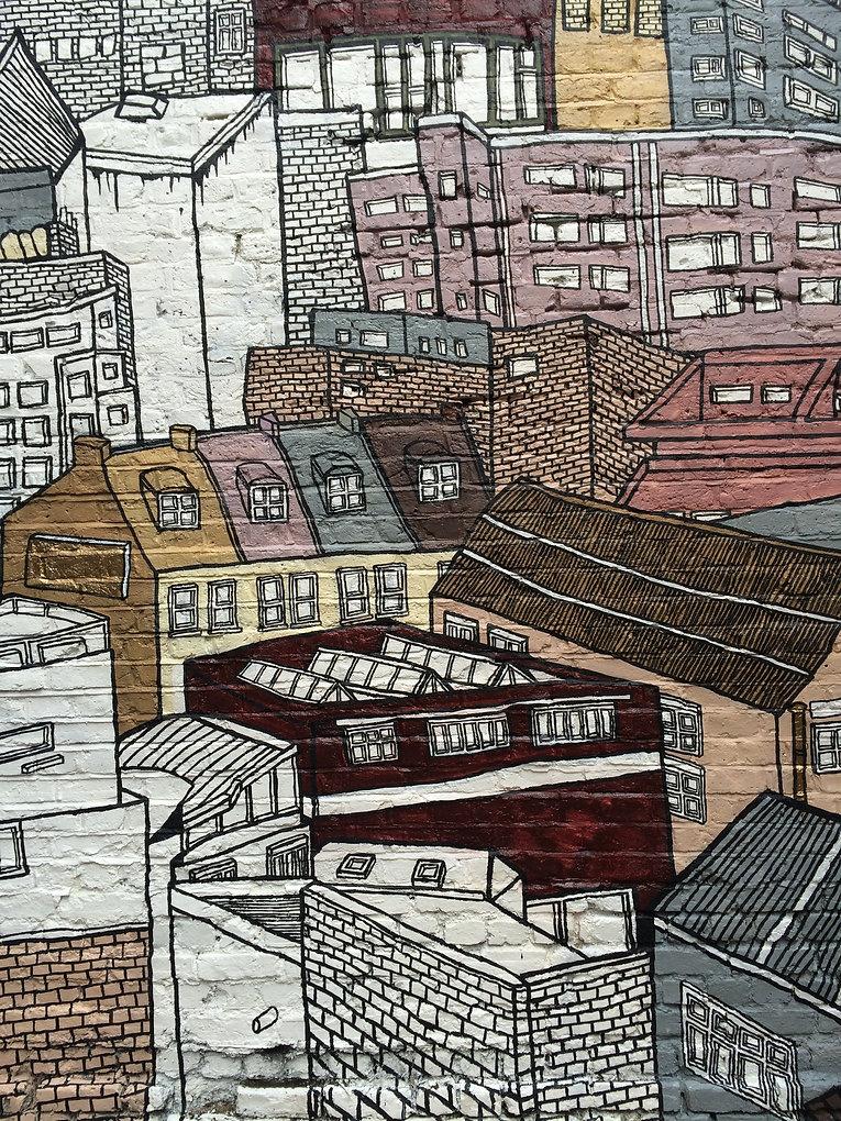 Mural in Peckham, London.