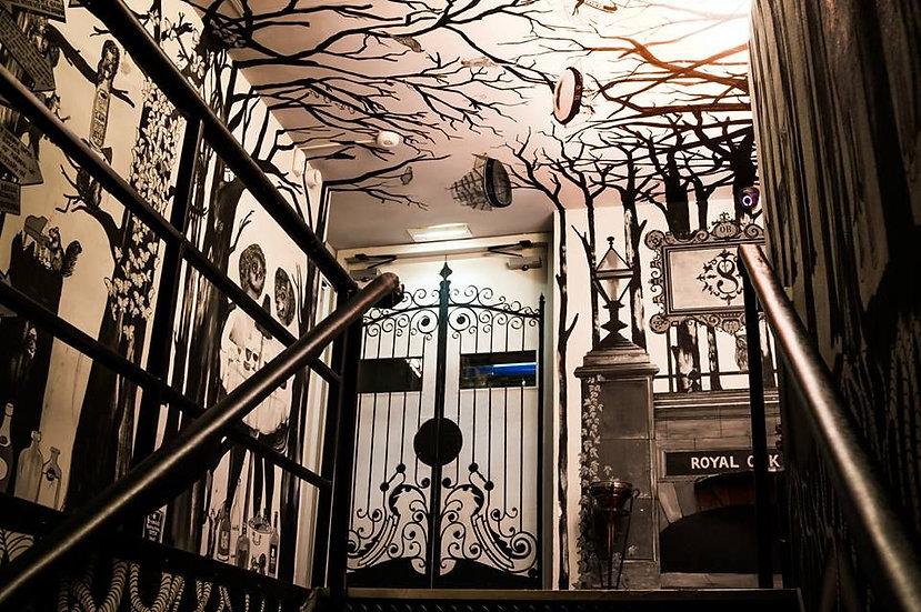 Mural for Shimmy Night club, London.
