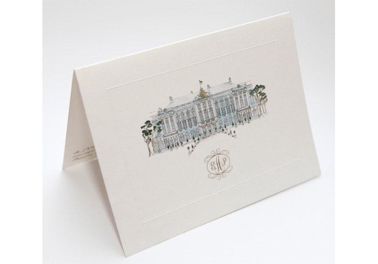 Wedding invitation illustration.