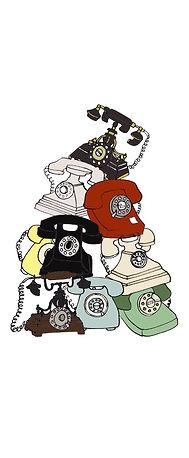 Vintage telephone illustration.