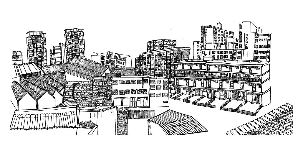 Hackney, East London illustration.