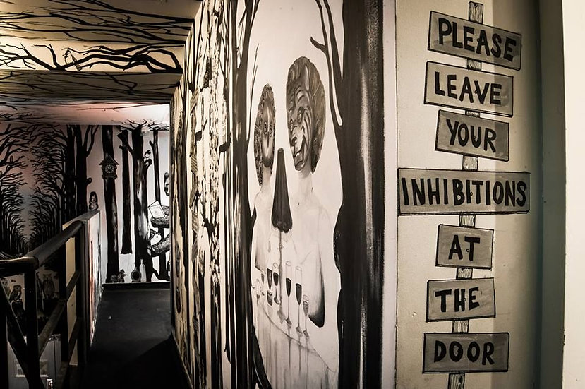 Mural for Shimmy nightclub in London.