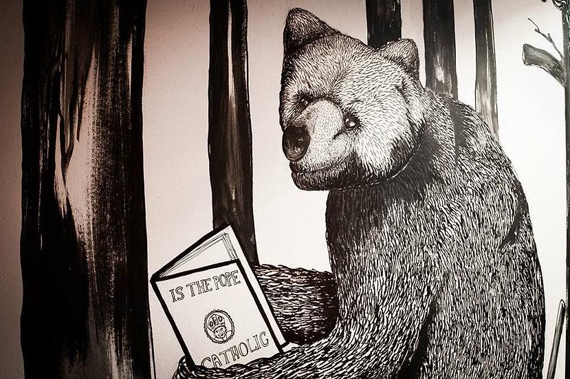 Bear mural for sHIMMY NIGHTCLUB' lONDON.