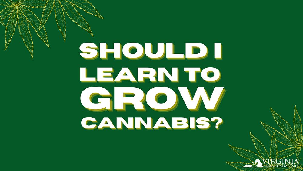 Should I Learn to Grow Cannabis?