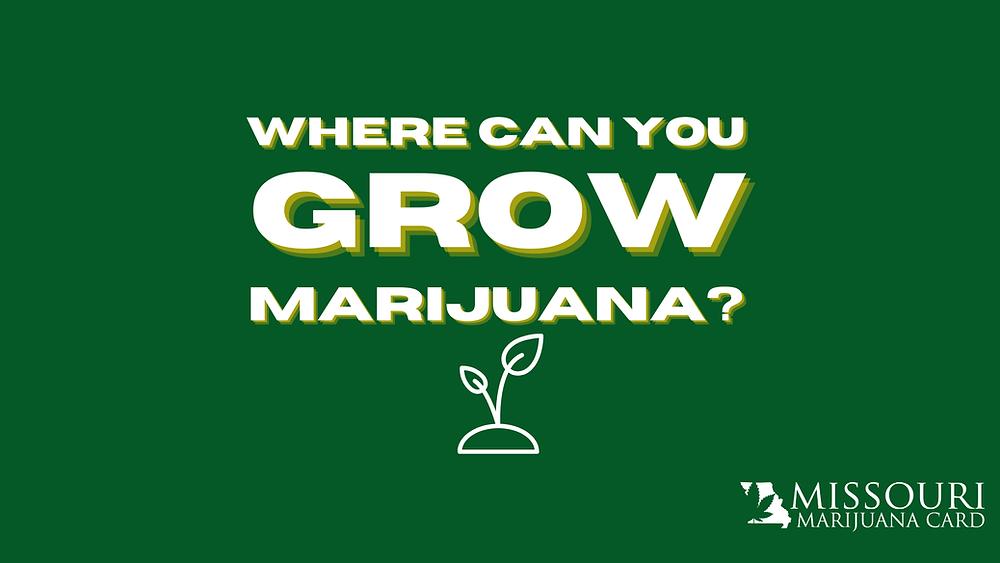 Where can I grow medical marijuana plants in Missouri?