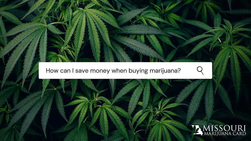 Medical marijuana - saving money