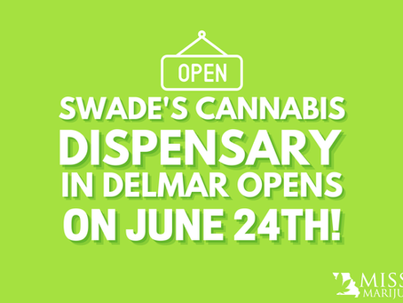 Swade's Cannabis Dispensary in Delmar Opens on June 24th!