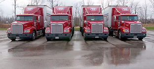 red delivery semi trucks CDL
