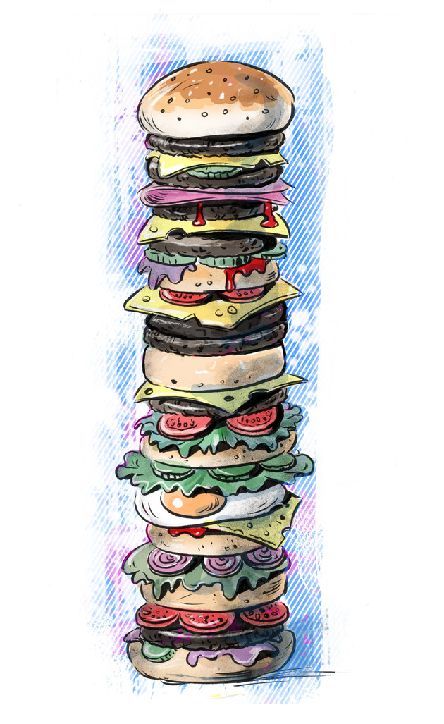 YIKES, Sandwich day! A real whopper!