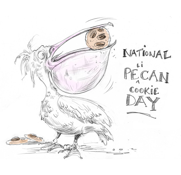Lunchtime Doodle... National Pecan Cookie Day